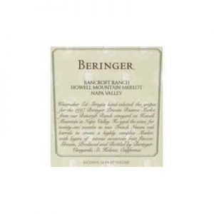 Beringer Vineyards Bancroft Ranch Private Reserve 1997 Merlot