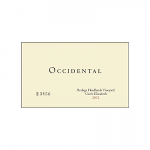 Occidental Bodega Headlands Cuvee Elizabeth 2011 Pinot Noir