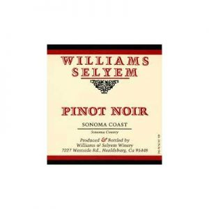 Williams Selyem Central Coast 2008 Pinot Noir