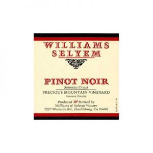 Williams Selyem Precious Mountain Vineyard 2012 Pinot Noir