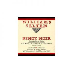 Williams Selyem Rochioli Riverblock Vineyard 2015 Pinot Noir