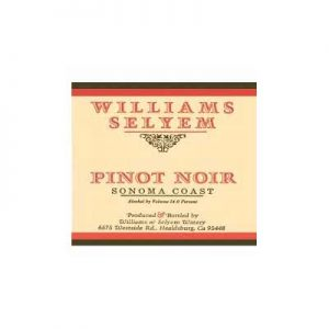 Williams Selyem Sonoma County 2009 Pinot Noir