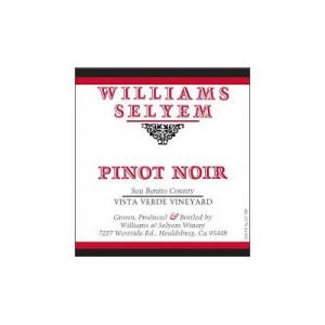 Williams Selyem Vista Verde Vineyard 2010 Pinot Noir
