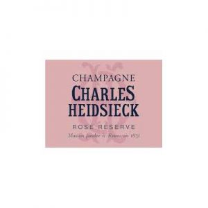 Charles Heidsieck Rose Reserve NV W/ Two Glasses