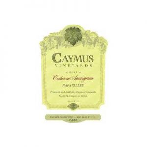 Caymus Vineyards 2017 Cabernet Sauvignon