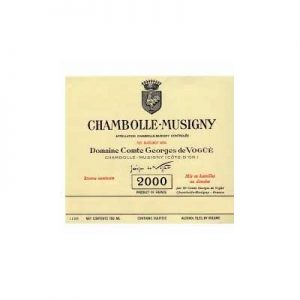 Domaine Comte Georges De Vogue Chambolle Musigny 2000